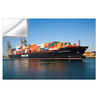 Container ship Wall Decal
