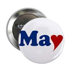 "May with Heart 2.25"" Button"