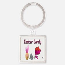 Easter Candy Square Keychain