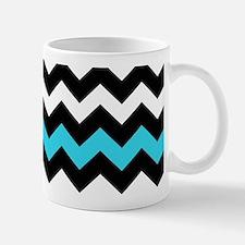 Black and Blue Chevron Mug