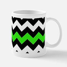 Black and Green Chevron Mug