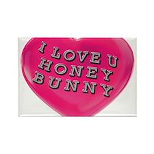 I LOVE YOU HONEY BUNNY Rectangle Magnet