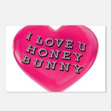 I LOVE YOU HONEY BUNNY Postcards (Package of 8)