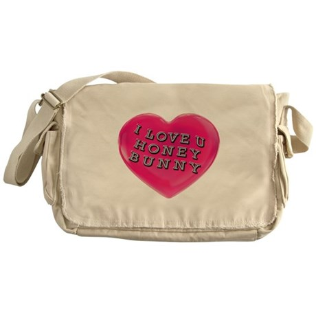 I LOVE YOU HONEY BUNNY Messenger Bag