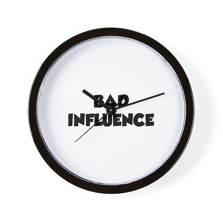 Bad Influence Wall Clock