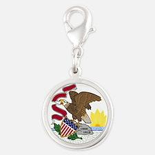 Seal of Illinois Silver Round Charm