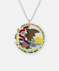 Seal of Illinois Necklace
