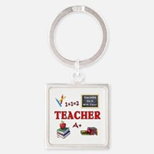 Teachers Do It With Class Square Keychain