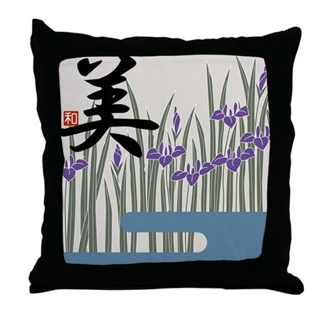 "Iris & ""Beauty"" Throw Pillow"