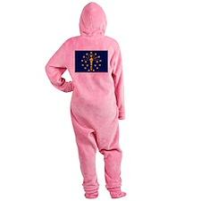 Flag of Indiana Footed Pajamas
