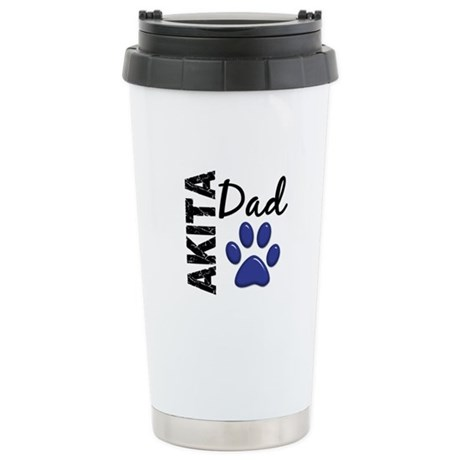 Akita Dad 2 Stainless Steel Travel Mug