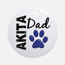 Akita Dad 2 Ornament (Round)