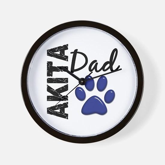 Akita Dad 2 Wall Clock