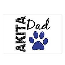 Akita Dad 2 Postcards (Package of 8)