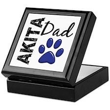 Akita Dad 2 Keepsake Box