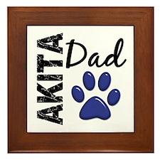 Akita Dad 2 Framed Tile