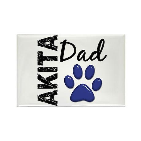 Akita Dad 2 Rectangle Magnet (10 pack)