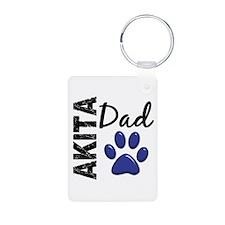 Akita Dad 2 Aluminum Photo Keychain