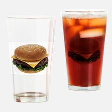 Cute Cheeseburger Drinking Glass