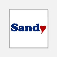 "Sandy with Heart Square Sticker 3"" x 3"""