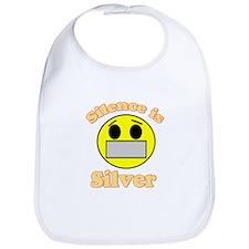 Silence is Silver Bib