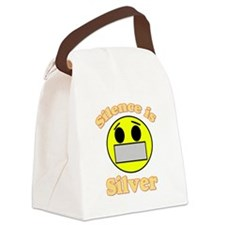 Silence is Silver Canvas Lunch Bag