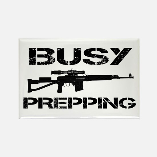 Busy Prepping Gun Rectangle Magnet