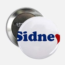 """Sidney with Heart 2.25"""" Button"""