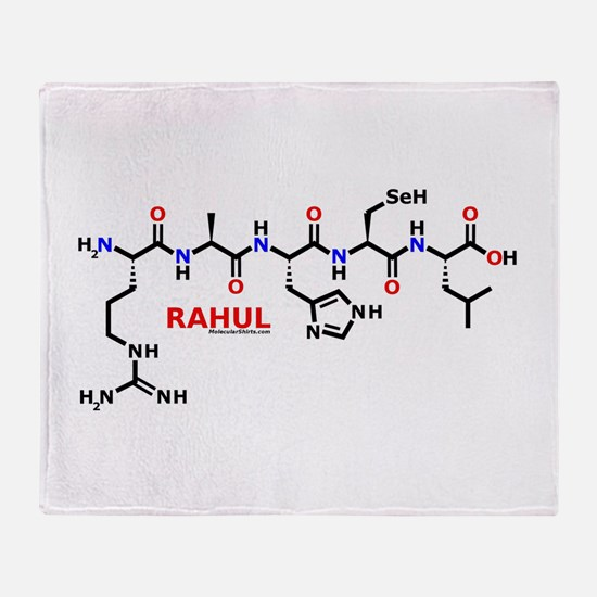 Rahul molecularshirts.com Throw Blanket