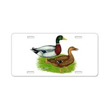 Mallard Ducks Aluminum License Plate