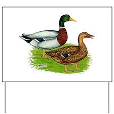 Mallard Ducks Yard Sign