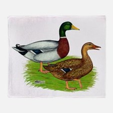 Mallard Ducks Throw Blanket
