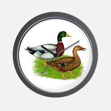 Mallard Ducks Wall Clock