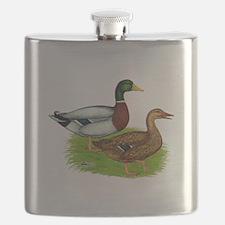 Mallard Ducks Flask
