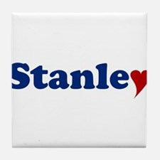 Stanley with Heart Tile Coaster
