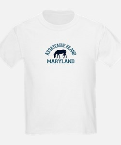 Assateague Island MD - Ponies Design. T-Shirt
