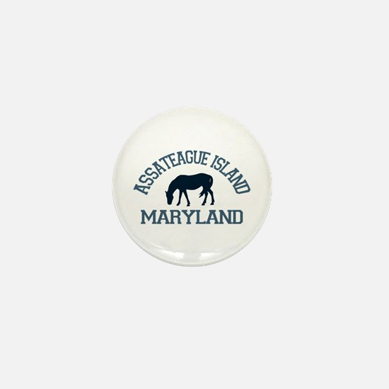 Assateague Island MD - Ponies Design. Mini Button