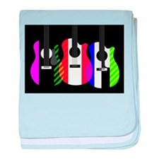 Abstract Rainbow Guitars baby blanket