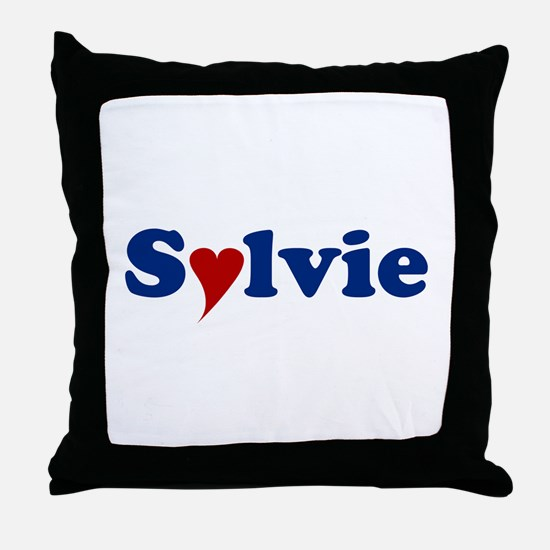 Sylvie with Heart Throw Pillow