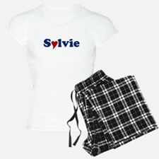 Sylvie with Heart Pajamas