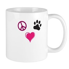 Peace, Love, Paw Mug