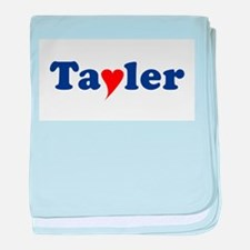 Tayler with Heart baby blanket