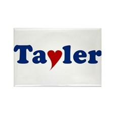 Tayler with Heart Rectangle Magnet