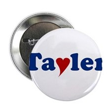 """Tayler with Heart 2.25"""" Button"""