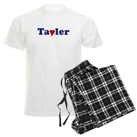 Tayler with Heart Men's Light Pajamas