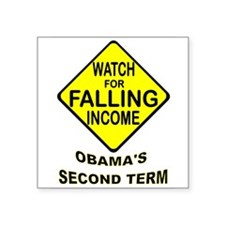 "OBAMA FAILING Square Sticker 3"" x 3"""