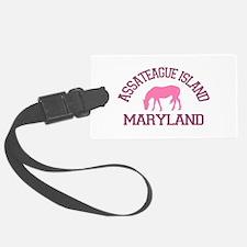 Assateague Island MD - Ponies Design. Luggage Tag