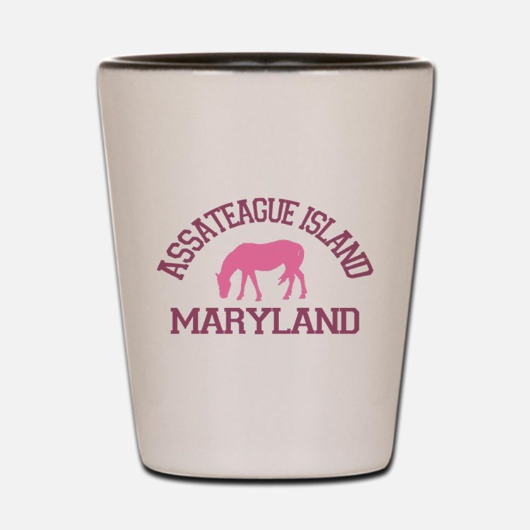 Assateague Island MD - Ponies Design. Shot Glass