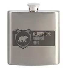 Yellowstone Arrowhead Badge Flask