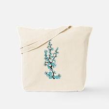 Cherry Blossoms Japanese Sakura (aqua) Tote Bag